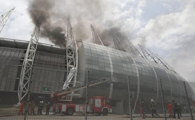 Laudo do incêndio da Arena Castelão aponta curto-circuito em ar-condicionado como causa